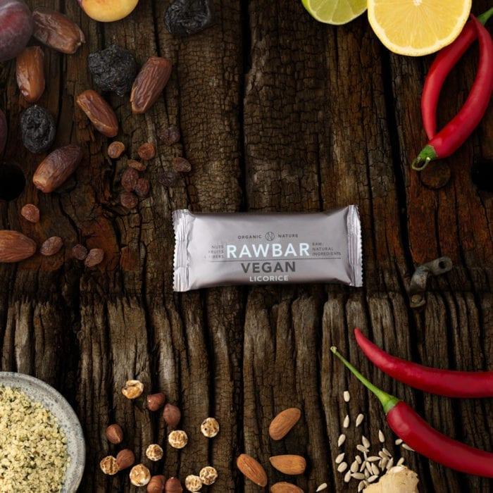 VEGAN RAWBAR Licorice - Ægte lakrids stykker giver skøn smag