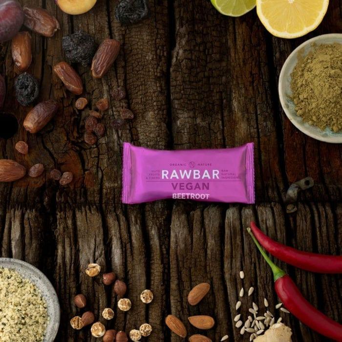 Vegan rawbar beetroot - rødbede